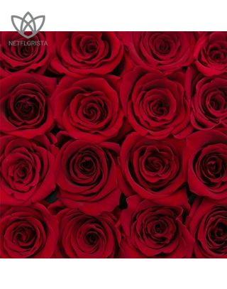 Forever Quadrata - small black or white cube box - red infinity roses-1