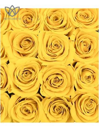 Forever Medio - medium black round box - yellow infinity roses-2