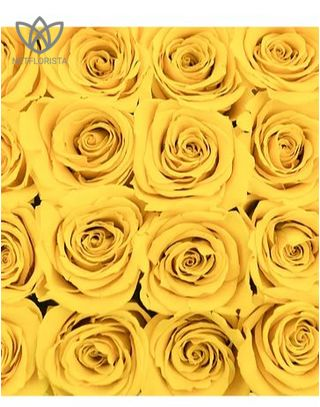 Piccolo - small black round box - yellow roses-1