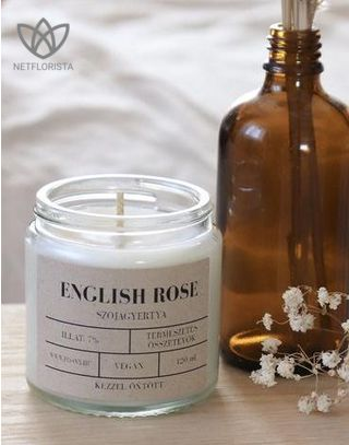 English Rose szójagyertya 120ml-1