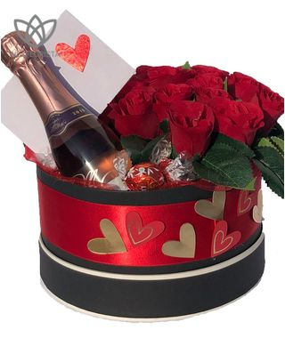 Rose Box with Prosecco and Bonbons