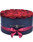 Grande - large black hat box - red roses